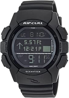 Rip Curl Men's Quartz Sport Watch with Polyurethane Strap, Black, 26 (Model: A1133MID1SZ)