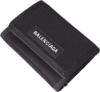 [BALENCIAGA(バレンシアガ)] 三つ折り財布 折りたたみ財布 ナイロンウォレット ロゴ 507481 9TYY5 1000 ブラック ウォレット [並行輸入品]