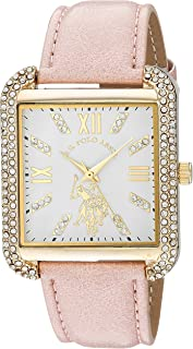 U.S. Polo Assn. USC42046 Women's Quartz Watch, Analog Display and Stainless Steel Strap