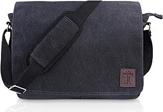 TRAVANDO  Umhängetasche Herren Tasche Damen Arbeit Umhänge Arbeitstasche Aktentasche Laptoptasche Studententasche Messenger Bag Kuriertasche Herrentasche Schultertasche Collegetasche Uni Studenten
