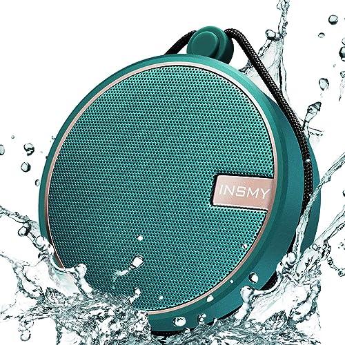 INSMY Portable IPX7 Waterproof Bluetooth Speaker, Wireless Outdoor Speaker Shower Speaker, with HD Sound, Support TF ...