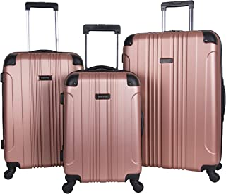 away luggage rose gold