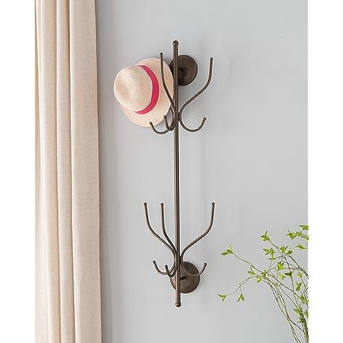 177770a72af946 Kings Brand Furniture Metal 12 Hook Wall Mount Coat & Hat Rack, Pewter