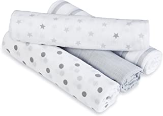 Aden by aden + anais Swaddle Blanket, Muslin Blankets for Girls & Boys, Baby Receiving Swaddles, Ideal Newborn Gifts, Unisex Infant Shower Items, Toddler Gift, Wearable Swaddling Set, Dove