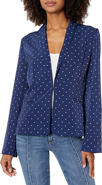 EVIDNT Women's 5 ☆ popular Washington Mall Polka Dot Blazer Long Sleeve