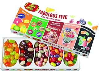 Jelly Belly Fabulous Five Jelly Beans Gift Box, 5 Assorted Flavor Mixes, 4.25-oz, 12 Pack