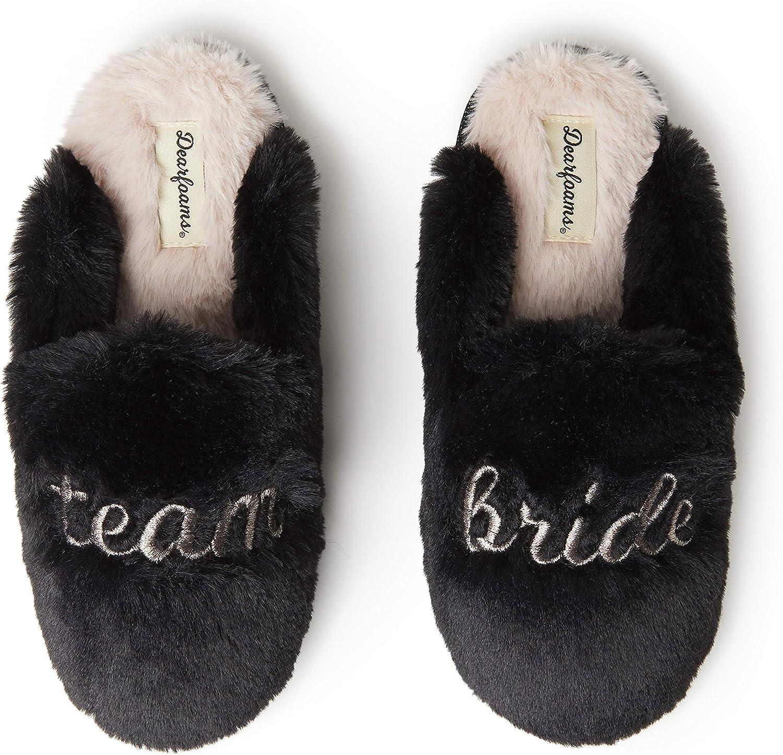 Dearfoams Women's Team Bride Scuff Slipper