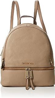 Michael Kors Womens Rhea Zip Backpack Handbag Beige (TRUFFLE)