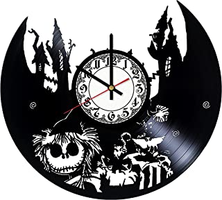 The Nightmare Before Christmas Handmade Vinyl Record Wall Clock - Get unique room wall decor - Gift ideas for his and her – Modern Unique Home Art Design