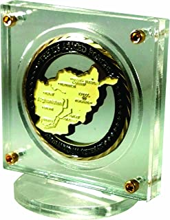 Gaus-USA Clear Acrylic Coin Display with Real Gold Plated Fasteners