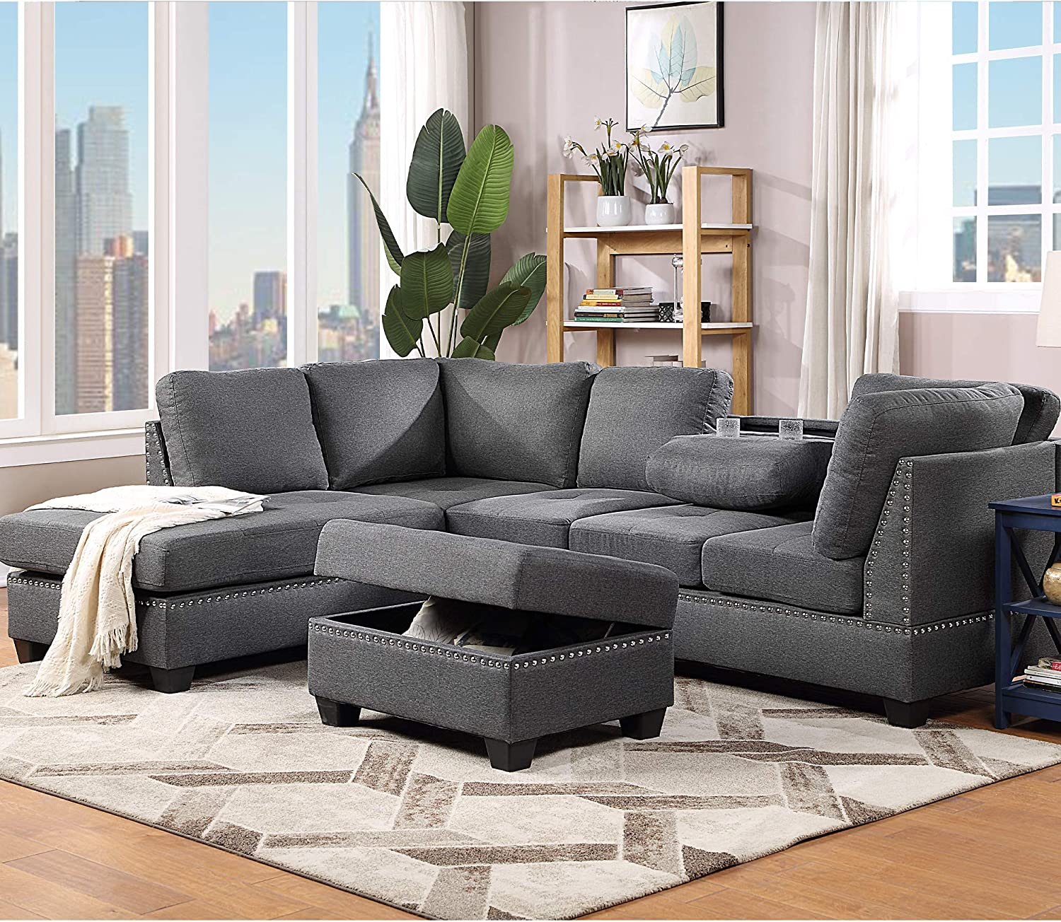 Sectional Sofas 3-Seat New Shipping Free Shipping Sofa Couches NEW with Reversib