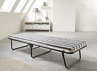 JAY-BE Valor Cama Plegable con colchón de Aire Transpirable, Metal, Negro, 90 x 190 cm
