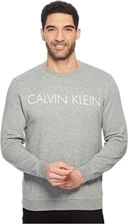 Calvin Klein Crew Neck Sweatshirt with Reflective Logo