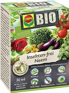 Compo Bio Insekten-frei Neem, Bekämpfung von Schädlingen u.a. Buchsbaumzünsler an Zierpflanzen, Kartoffeln, Gemüse und Kräutern, 30 ml, 120 m²