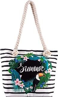 Summer Toucan Beach Tote Bag