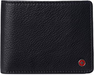 Alpine Swiss RFID Protected Mens Spencer Flip ID Leather Bifold Wallet