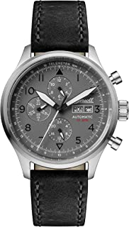 Men's The Bateman Automatic Watch with Grey Dial & Black Leather Strap