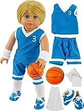 Blue Basketball Player Uniform for Boy Doll | Fits 18