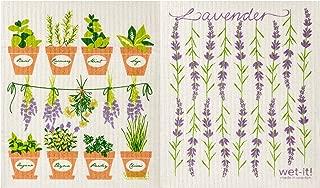 Wet-It! Swedish Dishcloth Set (Herbs and Lavender, Set of 2)