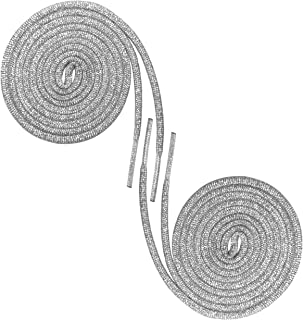 Round Metallic Silver Shoelaces for Sneakers and Shoes
