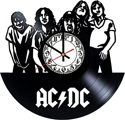 In Na AC/DC Hard Rock Design Vinyl Clock, Vinyl Wall Clock, Vinyl