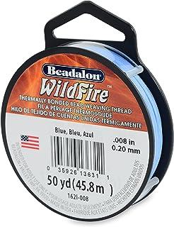 "Beadalon Wildfire 0.008"" Blue 50 yd Thermally Bonded Beading Thread"
