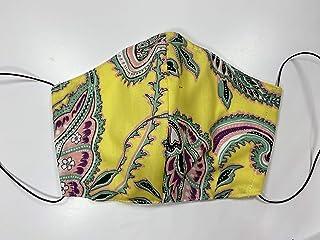 Mascherina Unisex Lavabile 100% cotone a fantasia giallo