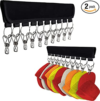Hat Organizer Holder for Hanger (2 Pack)