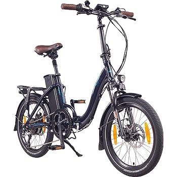 "NCM Paris (+) Bicicleta eléctrica Plegable, 250W, Batteria 36V 19Ah • 684Wh, 20"" (Azul+): Amazon.es: Deportes y aire libre"