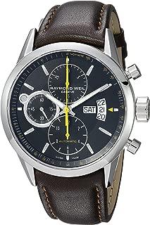 Men's Freelancer Quartz Watch with Stainless-Steel Strap, Brown, 22 (Model: 7730-STC-20021)