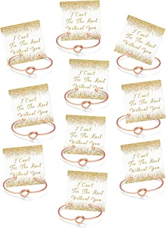 Bridesmaid Gifts, I Cant Tie The Knot Without You Bracelets -Set of 1, 4, 5, 6, 7, 10