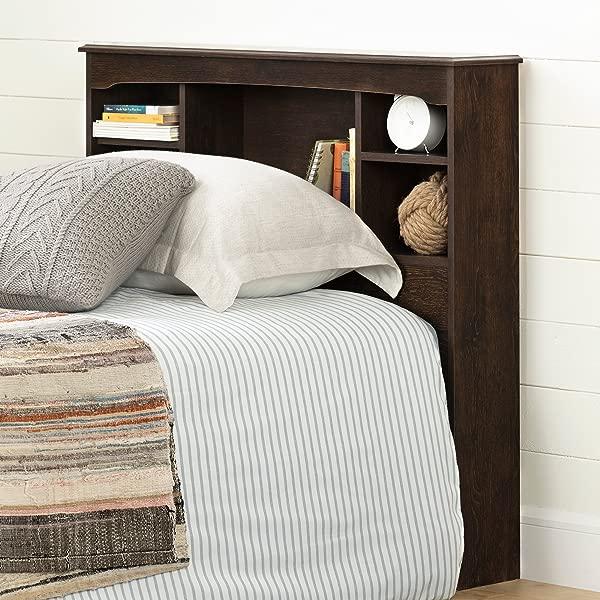 南岸 12720 纳瓦利书柜床头板双棕色橡木