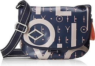 Oilily Damen Lori Letters Shoulderbag Shf Schultertasche Blau (Dark Blue)
