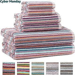 Best coral striped bath towels Reviews