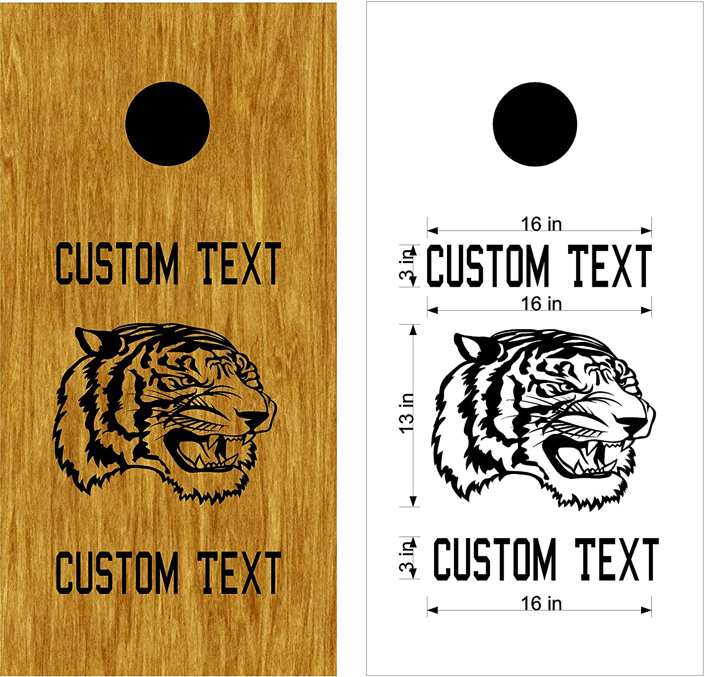 Tigers Mascot Sports Team Cornhole Board Decals Stickers Enough Both Boards Wedding Tailgating Camping Games Do It Yourself Designs Custom Corn Toss