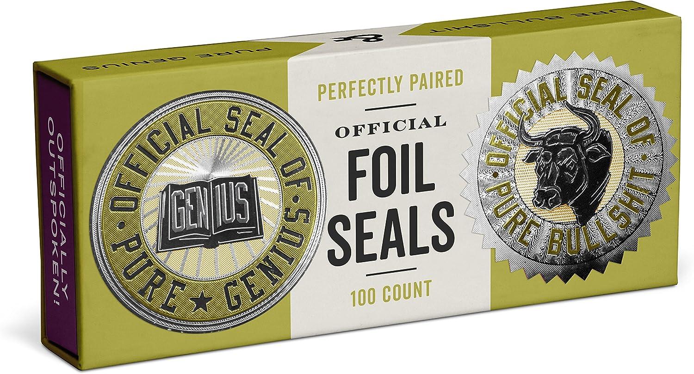 Knock Knock Genius/Pure Bullshit Sticker Seals (12555)