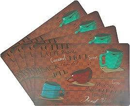Popular Bath Placemats, Mocha Latte, Set of 4