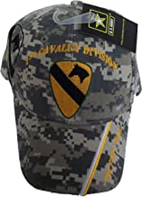 1st Cavalry Division Camo Embroidered Baseball Cap Usa First Team Vet Army seal Hat