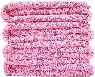 Polyte Premium Quick Dry Lint Free Microfiber Bath Towel, 57 x 30 in, Set of 4 (Pink)