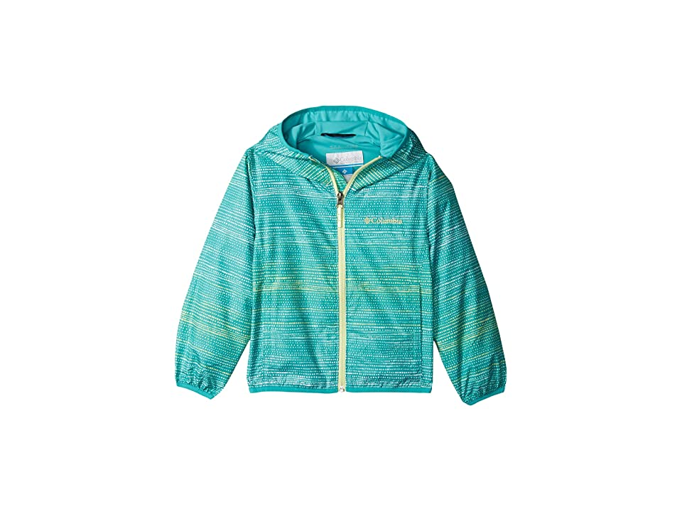 Columbia Kids Pixel Grabbertm II Wind Jacket (Little Kids/Big Kids) (Miami Dotty Dyes Stripe/Miami/Spring Yellow) Girl