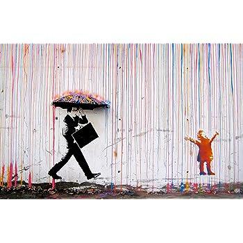 Tableaux Impression Sur Toile Art Banksy Creative Resume Danseuse Photo Sur Toile Imprimer Wall Art Affiches Et Estampes Street Pop Art Toile Peinture Pour La Decoration De La Maison 20x30cm Sans Cadre Cuisine