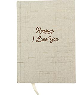 Reasons I Love You Book Journal - Hardcover Linen Notebook For Couples, Your Boyfriend or Girlfriend | Write Loving Letter...