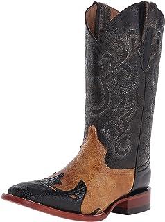 حذاء فيرريني غربي للرجال من جلد السحلية