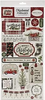 Carta Bella Paper Company CBCM106022 chipboard, red, Green, tan, Black, White