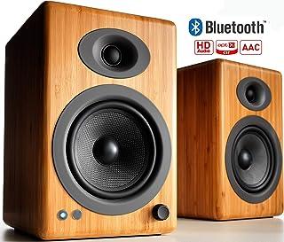 Audioengine A5+ Plus Wireless Speaker | Desktop Monitor Speakers | Home Music System aptX HD Bluetooth,150W Powered Booksh...