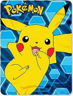 The Northwest Company Pokémon Pikachu Fleece Throw Blanket, 45 x 60-inches