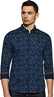 Flying Machine Men's Solid Slim Fit Casual Shirt