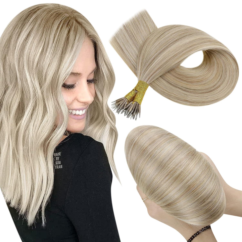 Hetto Bargain Blonde Nano Beads Hair Extensions Inch Tip Nashville-Davidson Mall Real Hu 18