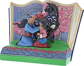 Disney El Mayor Honor La Figurina de Mulan Storybook, Resina, 20.00x10.00x15.00 cm