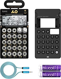 $128 Get Teenage Engineering PO-32 Tonic Pocket Operator Built-In Mic, Patterns & Sounds Synthesizer & Sequencer Bundle with CA-X Silicone Case, Blucoil 6-FT Headphone Extension Cable (3.5mm) & 2 AAA Batteries